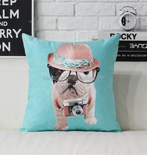 2015 popular design pattern cute dog animal chair cushion pillow