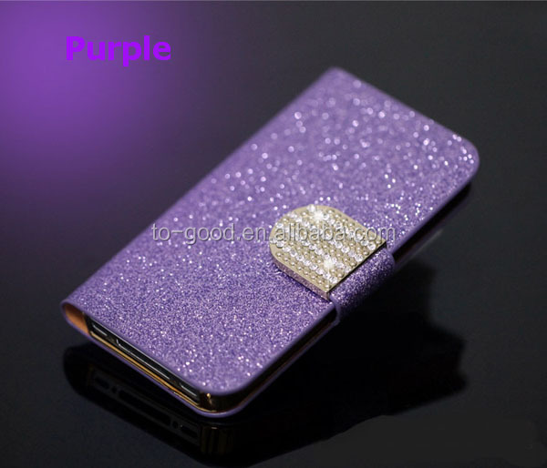 Luxury Diamond PU Wallet Leather Phone Cases For Nokia Lumia 520 With Stand Function And Card Holder