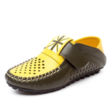 Children casual shoes spring gommino shoes with buckle strap