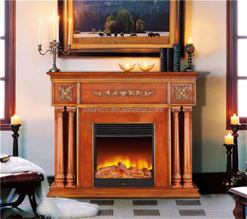elegant faux stone mantelpiece wooden electric fireplace