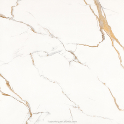 Glazed white marble look rustic tiles 800x800mm