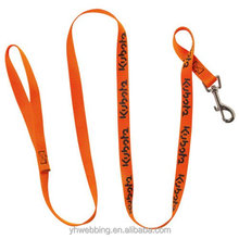 custom cheap nylon dog leash with printing logo