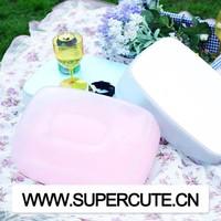 Multipurpose portable ABS&PVC White color rectangular shape inflatable travel pillow