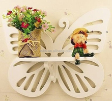 2015 popular hot sale modern wood plastic material carved display shelf
