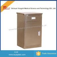Sickroom Furniture Stainless Steel Small hospital Nightstand