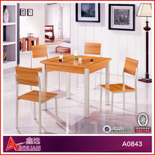B0843 dining room furniture / square dining table with 4 chairs / new classic wooden dining room set