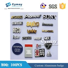 Custom nameplate badge metal badge aluminum metal logo for company