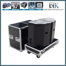 Large Speaker flight case, road case with caster board