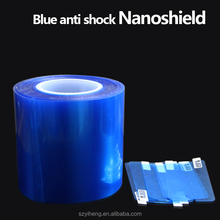 High demand products to sell blue nano-coated screen protector roll anti-shock screen cover invisible screen shield protector