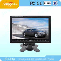 9inch stand-alone LCD monitor support to connect cameras car tv free