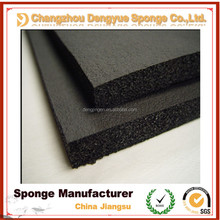 construction material thermal insulating soundproof black foam rubber sheets