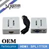 SIPU multi media 220v 50hz 110v 60hz Mini vga to hdmi converter