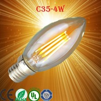 Antique led edison style light bulbs g125 spiral carbon filament lamp