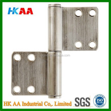 Lift Off Hinge, Stainless Steel 304, Brushed Finish, 3mm Leaf Thickness, 100mm Open Width, 16mm Pin Diameter, 102mm Height