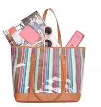 Fashion canvas tote bag with waterproof lining
