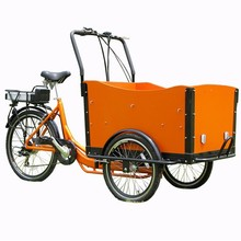 Electric Cargo Three wheel motorcycle bicycle/ bikes/ tricycle /pedicab /trishaw popular in Europe
