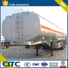 CITC 3 /4 axles carbon mid steel liquid chemical tank semi trailer for transporting fuel/oil/gasoline/petroleum