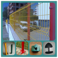 Hot sale 2015 direct factory price horizontal high folds welded curvy mesh fence (manufacturer)