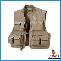 Vest with many pockets,fly fishing vest