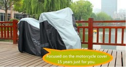 Brand new fabric bicycl cover/dirt cover motorcycl with high quality and free sample