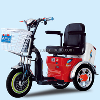 3 Wheel Adults Electric Mobility Dining Tricycle Car With Sunny Roof