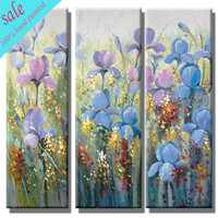 Wall art group hand painted antique flower oil painting