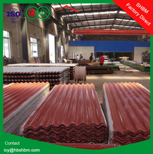 high strength MGO anti-corosion insulated fireproof PET membrance roofing sheet , discount roof tile