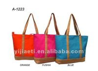 2014 latest lady's canvas tote beach bag
