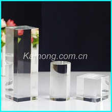 Factory supply 3d laser engraved crystal cube in Yiwu for home decoration