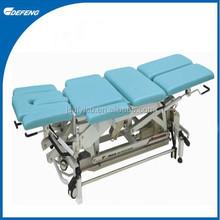 DLC-8A Medical rehabilitation training tilt table with adjustable lifting wheels