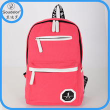 new products cheap canvas backpack high class student school bag