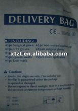 2012 latest design and fashion CE marked disposable nonwoven delivery kit and bags manufacturers for surgons