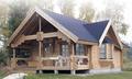 O castelo de estilo portátil de madeira pré-fabricada casa de luxo