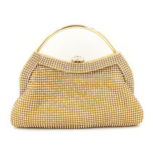 New trendy luxury soft rhinestone beaded ladies evening bag