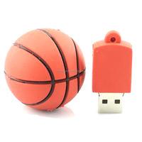 Alibaba wholesale Free shipping usb2.0 8G 16G 32G 64G Basketball USB flash disk 3D cartoon Thumb drive