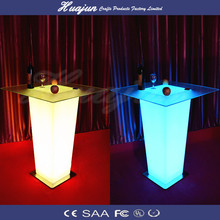 LED Shiny table/Modern bar table/party furniture glow in the dark