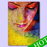beautiful woman oil painting,NEW design hand-painted abstract woman portrait sharp and colorful decorative wall painting