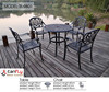Best quality garden furniture cast aluminum dining sets table and chairs