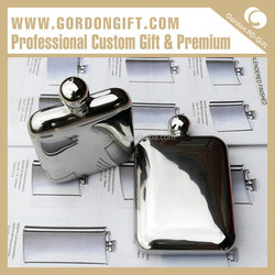 2015 Simple Popular HF-035 Fashionable AD gift Own brand Hip Flask Guangzhou Factory