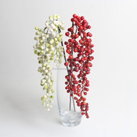 Single hanging artificial berry flowers decorative berry for wholesale