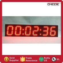 #CT70 Customized Digital Timer 6 inch 6 digits led lap timer racing