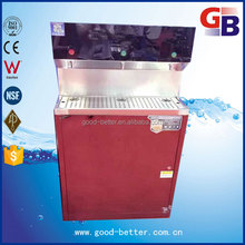 Hot selling three taps crystal glass rear panel water boiler machine