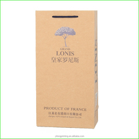 high quality promotional kraft paper wine bag