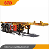 light weight 2 axles skeleton semitrailer