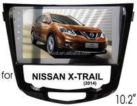 "(for Nissan X-Trail 2014) 10.2"" HD digital in-dash android car GPS DVD player, with TV,radio, bluetooth, iPOD"