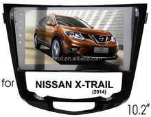 """(for Nissan X-Trail 2014) 10.2"""" HD digital in-dash android car GPS DVD player, with TV,radio, bluetooth, iPOD"""