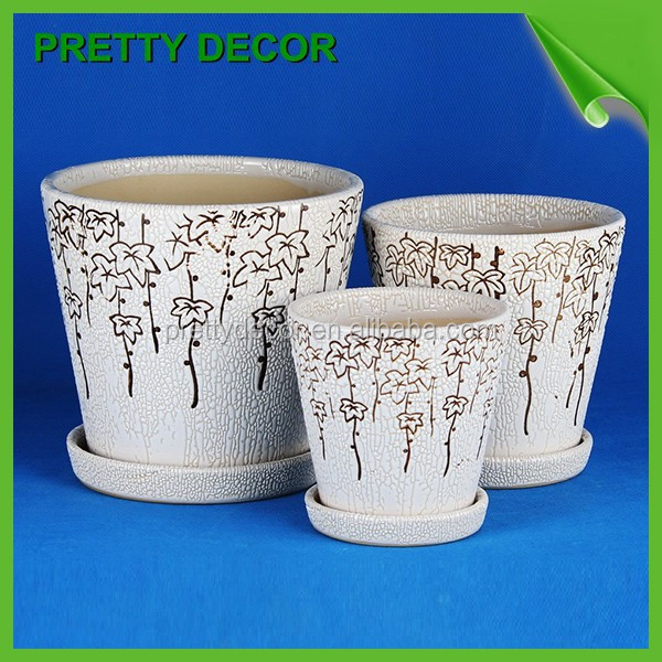 Cheap Ceramic Flower Pots And Planter Small White