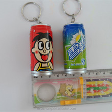 Cute drink bottle shaped plastic logo promotion ball point pen with key chain for kids CH-6664