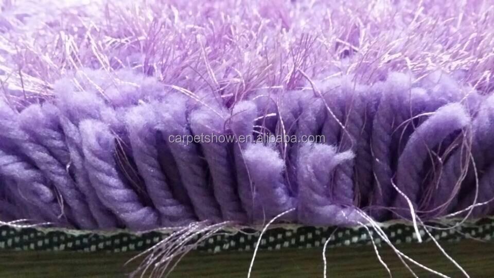 6cm lang stapel dik garen woonkamer paars shag tapijt-tapijt ...