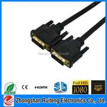 speed 1080p gold plated dvi cable high density triple shielding for maximum rejection of EMI and RFI